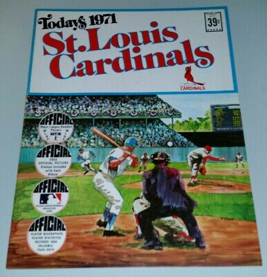 St. L. Cardinals Dell Today's 1971 Team 24 Stamp Card Book Gibson Brock Carlton