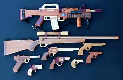 Woodworking plans for many varieties wood toy guns