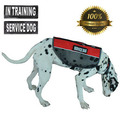 Lightweight Reflective Service Dog Vest Harness Adjustable W/ Training Patches