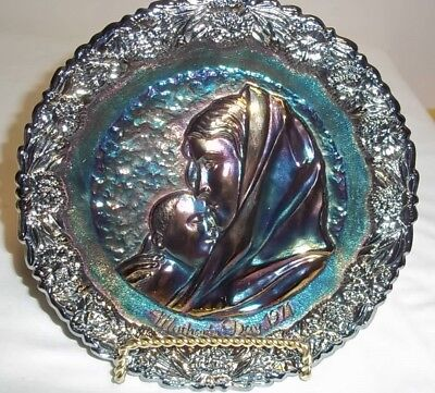 Fenton Carnival Mother's Day 1971 Plate Madonna Sleeping Child