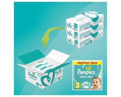 Baby Nappies Pampers Size 3/4/4+/5/5+/6/7/8 Soft Dry Air Channel Monthly Pack