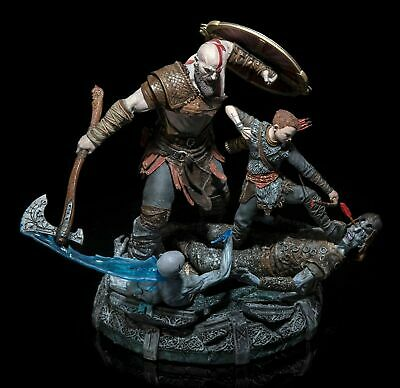 God of War Kratos and Atreus Statue Only Stone Mason's Collector's Edition PS4