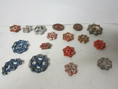 Lot 17 Old Metal Faucet Valve Handle Cabinet Door Knob Steampunk
