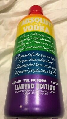 Absolut Colors / Pride  - RARE Cover Only (No Bottle/alcohol)