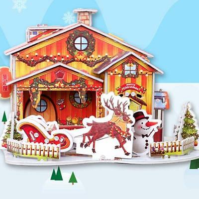 Wooden Miniature House Models 3D Wooden Puzzle DIY Toy Gift for Kids Girl LJ