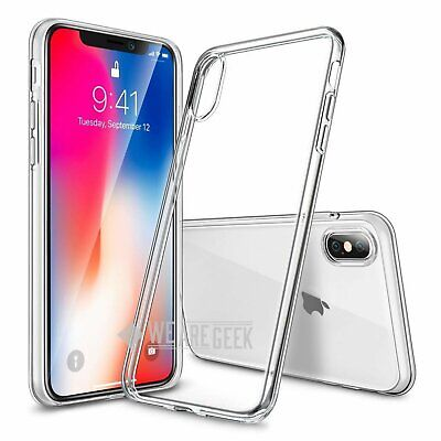 For iPhone X Case Transparent Crystal Clear Case Gel TPU Soft Cover Skin