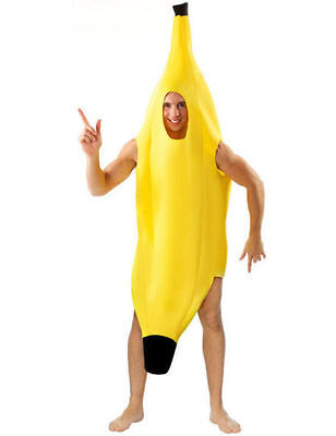 Adult Banana Fruit Body Suit Costume Unisex Halloween Party Fancy Dress Up Funny