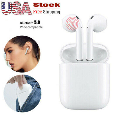 i13 TWS Stereo Bluetooth 5.0 Earphones Wireless Earbuds Touch Mic Super Bass DSP