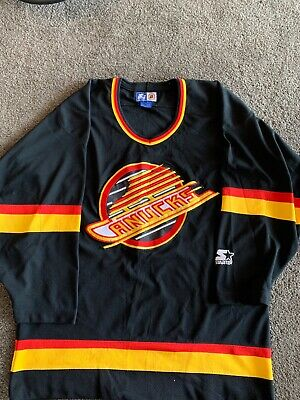 NHL Ice Hockey.  1993/4 Canucks Jersey.  Vintage genuine Starter brand. Size L.