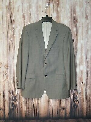 54f110b8 Hugo Boss Wool Suit Jacket Men's Size 40S GABLE GUABELLO GREY SUPER 130S  PRE-OWN