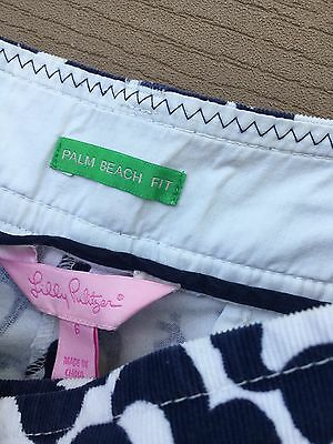 Lilly Pulitzer Cropped Pants Palm Navy Cream Crazy Horse 6 Capris A19