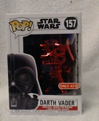 Funko Pop Star Wars! Darth Vader (Red Chrome 157) *Target Exclusive*