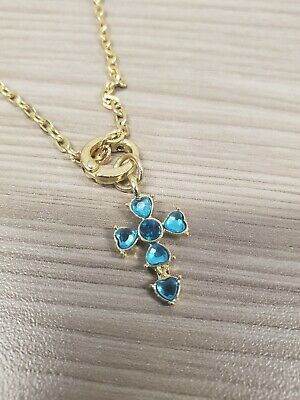 Gold & turquoise rosary necklace women