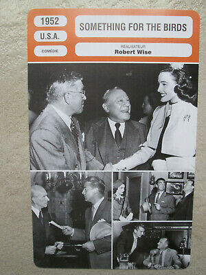 Fiche Something For The Birds 1952 Victor Mature  Patricia Neal Wise Mr Cinema