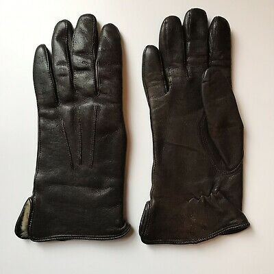 Vintage Leather GLOVES With Fur Lining 1950s 1960s ladies accessory pair of
