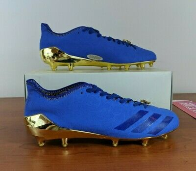 adidas football cleats gold and blue