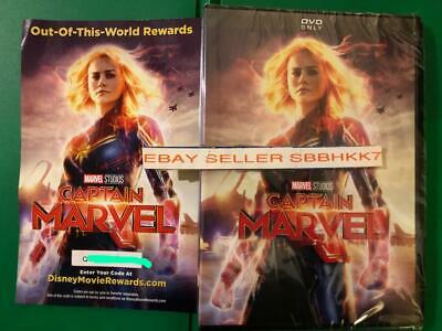 Captain Marvel DVD AUTHENTIC W/ Disney Rewards Points Insert {READ DESCRIPTION}}