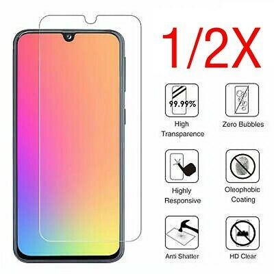 For Samsung Galaxy A20 A40 A50 Full Cover Tempered Glass Screen Protector Clear