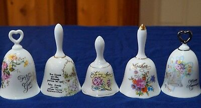 5  China Bells - Flowers - Inscriptions - Free Bell