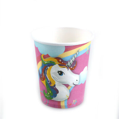 10x cups kids birthday party supplies Unicorn.paper glass party decor Kr
