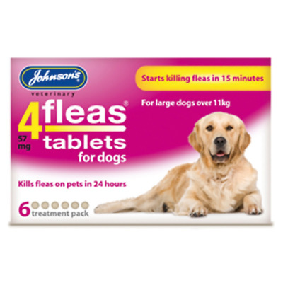 Johnson's Veterinary 4Fleas 3 Or 6 Tablets For Dogs Weighing Over 11 Kg