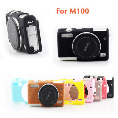 Soft Silicone Rubber Case Cover Body Protective Skin Bag For Canon EOS M100