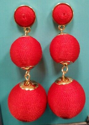 SUGARFIX BY BAUBLEBAR ball drop earrings vibrant red