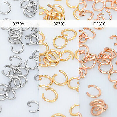 Stainless Steel Open Jump Ring 0.6mm Thick Connect Split Ring for jewelry 500pcs