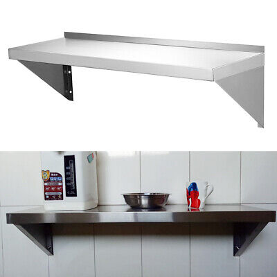Stainless Steel Shelves/Metal Shelving Kitchen Wall Shelf Commercial Home Use 2x