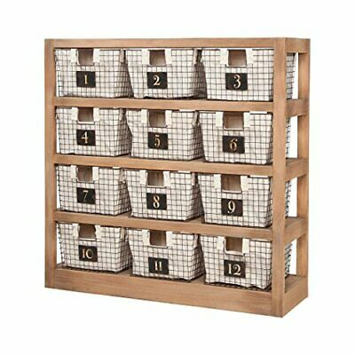 Sterling Home Locker Baskets With Shelves bookcase, Brown