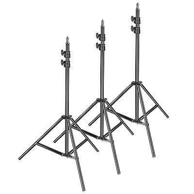 """3-pack Photography Light Stand - Metal Adjustable 36-79""""/92-200cm Reflector"""