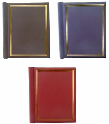 Self Adhesive Large Photo Albums Totaling 60 Sheets 120 Sides - Pack of 3 In Red