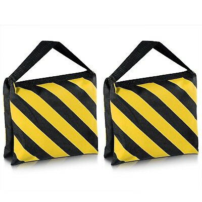 Set of Two Black/Yellow Heavy Duty Sand Bag Photography Studio Video Stage Film