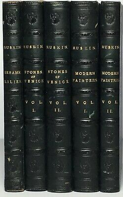 Sesame and Lillies-Stones of Venice-Modern Painters John Ruskin Essays Leather