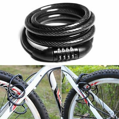 100CM Bike Bicycle Lock 4 Digit Security Combination Code Steel Cable Cycling AU