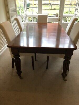 Victorian Reproduction Antique Extendable dining table seats up to 12 mahogany