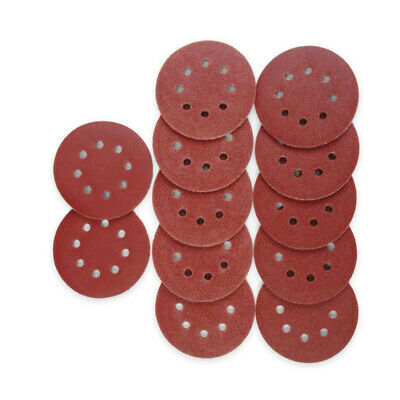 125mm 8-hole Sanding Disc Pad 80/120/240 Grit Sander Sandpaper 50x/10pcs Parts
