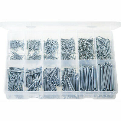 Split Pins - Imperial Zinc Plated Steel. 850 Pieces. Max Box AB508