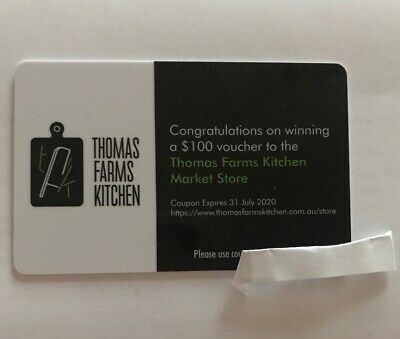 Thomas Farms Kitchen Gift Card Voucher $100 Fresh Meals Meat Seafood Ect