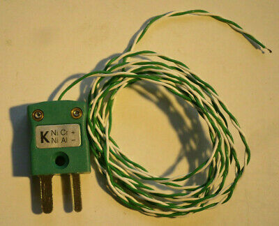 LABFACILITY  Z2-K-1M K-type bead thermocouple with plug