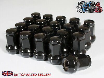 20 x Black Hex Wheel Nuts M12x1.5 Fits Ariel Atom Lotus Elise