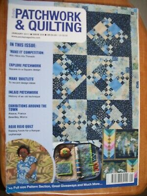 British Patchwork & Quilting Sewing Magazine,January 2011, Issue 204