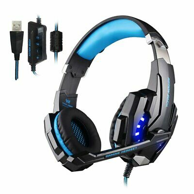 3.5mm Gaming Headset Mic LED Headphones For PC PS4 Slim Pro Xbox one S X 360E UK