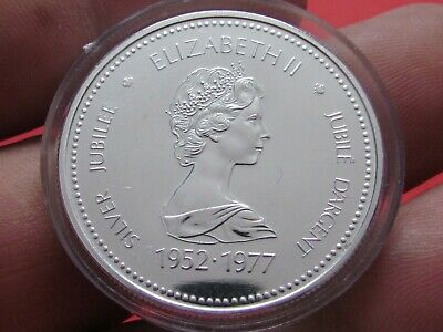 Canada( 1952-1977 ) One Dollar Silver Jubilee Weight 23.3 Grams Rare Coin.unc