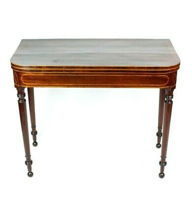 Antique Mahogany Folding Top Console Table - FREE Shipping [5319]