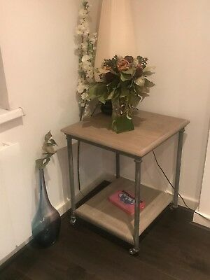 Architectural Forum refurbished antique side table real vintage