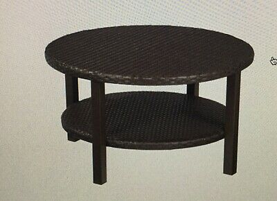 Patio Tile Top Bronze Furniture Belleville Collection Picclick Exclusive Hampton Bay Torquay Coffee Table W Shelf