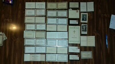 93 ANTIQUE MOURNING CARDS ETC, VICTORIAN & EDWARDIAN TO EARLY 20th CENTURY.