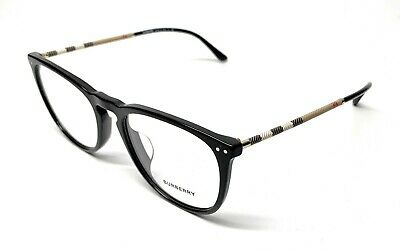 91c54e227592 New Burberry B 2258-Q-F 3001 Black Unisex Authentic Eyeglasses Frame 55-19
