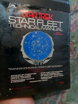 1975 Star Trek Starfleet Technical Manual 1st Printing